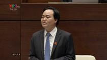Ý kiến của các đại biểu về trả lời chất vấn của Bộ trưởng Bộ Giáo dục