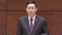 Đại biểu nhận xét phần trả lời của Phó Thủ tướng Vương Đình Huệ