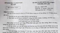 Đề thi và gợi ý giải đề thi môn Ngữ văn vào lớp 10 của thành phố Hà Nội