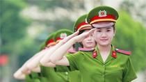 Chùm ảnh: Nữ sinh cảnh sát xinh tươi trong cảnh phục