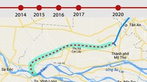 Dự án cao tốc Trung Lương - Mỹ Thuận đang chậm tiến độ