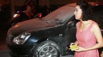Ô tô của nữ diễn viên Lê Khánh bốc cháy trên phố