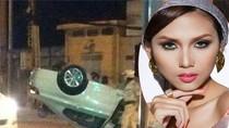 Siêu mẫu Hoàng Yến xuất viện sau tai nạn lật xe BMW