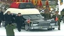 Linh cữu Chủ tịch Kim được đặt trên Mercedes limousine