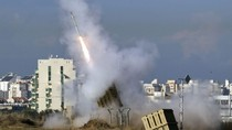 Cảnh tên lửa quần đảo bầu trời Dải Gaza