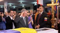 Ảnh: Các nhà lãnh đạo của hơn 55 quốc gia viếng ông Chavez
