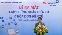 VBI phát hành Giấy chứng nhận và Hóa đơn điện tử