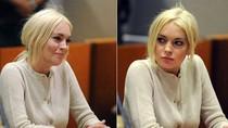 Lindsay Lohan lộ cằm chảy xệ