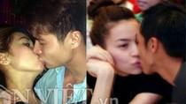 Những nụ hôn gây xôn xao showbiz Việt