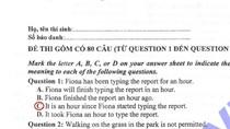 Đáp án đề thi môn Tiếng Anh khối A1 năm 2012