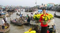 Chùm ảnh: Rực rỡ chợ hoa trên sông ở đồng bằng Cửu Long