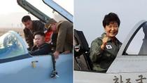 Ảnh: Tổng thống Hàn Quốc, lãnh đạo Triều Tiên lên chiến đấu cơ