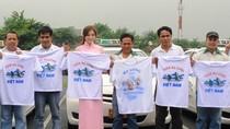 Taxi ABC ở Philippines đồng loạt dán hình Vịnh Hạ Long