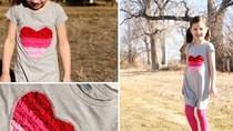Cách làm váy xinh cho bé từ áo phông cũ của bố mẹ