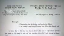 Phú Thọ dừng ngay thu tiền thi Olympic tiếng Anh, Trưởng phòng khảo thí nổi giận