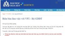 Trường Đại học Hoa Sen tiếp tục phớt lờ ý kiến Bộ GD&ĐT