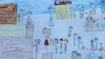 Tranh dự thi của Thùy Dung , lớp 5I, Tiểu học Dịch Vọng A (MS: 123)