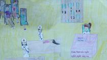 Tranh dự thi của Trang Nhung, lớp 5I, Tiểu học Dịch Vọng A (MS: 124)