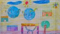 Tranh dự thi của Ngọc Hà, lớp 3, Tiểu học Cầu Diễn (MS: 128)