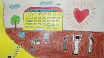 Tranh dự thi của Thế Vũ, lớp 5P, Tiểu học Đoàn Thị Điểm (MS: 173)