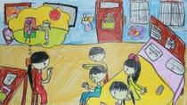 Tranh dự thi của Nhật Mai, lớp 4A3, Tiểu học Đoàn Thị Điểm (MS: 175)