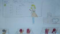 Tranh dự thi của Hồng Anh,lớp 5C,Trường Tiểu học Dịch Vọng A(MS:354)