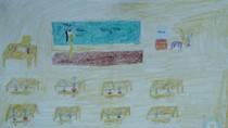 Tranh dự thi của Vân Hà,lớp 4H,Trường Tiểu học Dịch Vọng A(MS:364)