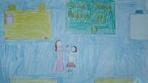 Tranh dự thi của Thu Minh,lớp 4C,Trường Tiểu học Dịch Vọng A(MS:369)
