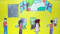 Tranh dự thi của Ngọc Bích, lớp 5A, Tiểu học Xã Đàn (MS:471)