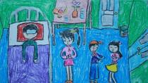Tranh dự thi của Trí Thành, lớp 4B1, Tiểu học Xã Đàn (MS:474)