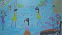 Tranh dự thi của Thảo Lý, lớp 5A, Tiểu học Xã Đàn (MS:490)