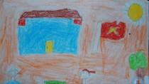 Tranh dự thi của Đức Minh, lớp 5A, Tiểu học Xã Đàn (MS:491)
