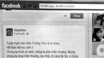Nữ sinh thóa mạ thầy trên Facebook được phường bảo lãnh