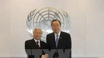 Tổng Bí thư trao đổi về vấn đề Biển Đông với Tổng thư ký Liên Hợp Quốc