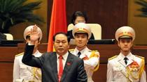 Chủ tịch nước Trần Đại Quang tuyên thệ