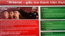 Cơ hội nhận vé xem miễn phí trận Arsenal - Việt Nam