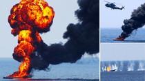 Cận cảnh trực thăng Anh tấn công hải tặc Somalia