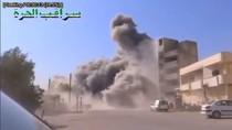 Video: Máy bay quân đội Syria ném bom phe nổi dậy gần Damascus
