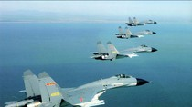 TQ điều Su-30, J-11 cất cánh khẩn cấp rượt theo 12 máy bay Mỹ, Nhật