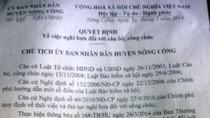 Thanh Hoá: Nguyên trưởng phòng Tài nguyên Nông Cống có 2 năm sinh
