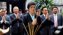 Chùm ảnh: Nữ thủ tướng Thái Lan du ngoạn Hà Nội