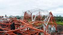 Chùm ảnh: Tháp truyền hình cao 180m bị bão đánh sập