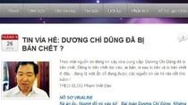 Tin đồn ông Dương Chí Dũng bị bắn chết là bịa đặt