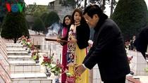 Chủ tịch nước dâng hương tưởng niệm các liệt sĩ bảo vệ biên giới phía Bắc