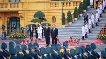 Hình ảnh lễ đón Tổng thống Hoa Kỳ Obama tại Phủ Chủ tịch