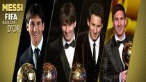 Hành trình vĩ đại tới 4 Quả Bóng Vàng của Lionel Messi