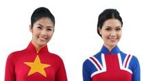 Tuyệt xinh: Ngọc Hân, Thùy Dung áo thắm màu cờ