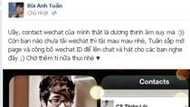 Bùi Anh Tuấn đổ lỗi người quản lý quảng bá WeChat