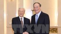 Tổng Bí thư hội kiến Bí thư Ủy ban Kiểm tra Kỷ luật TƯ ĐCS Trung Quốc
