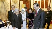 Nhà Vua, Hoàng hậu Nhật Bản ấn tượng với tà áo dài của Phu nhân Chủ tịch nước